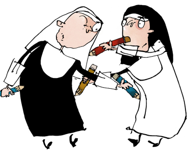 Drawing nuns